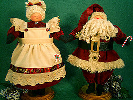 Collectible Cloth Doll - Mama & PapPap Claus