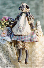 Collectible Cloth Doll - Penelope - Black Sheep
