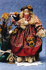 Collectible Cloth Doll - Sunflower