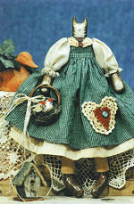 Collectible Cloth Doll - Bethany- Cat