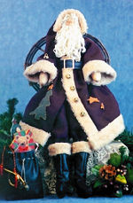 Collectible Cloth Doll - Old World Claus - Santa