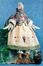 Collectible Cloth Doll - Gandering in the Garden - Goose