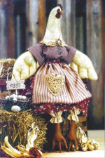 Collectible Cloth Doll - Ruffled Feathers