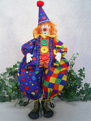 Collectible Cloth Doll -Happy the Clown