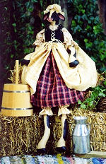 Collectible Cloth Doll - Milk Maid - Cow