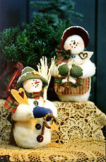 Collectible Cloth Doll - I Love Snow - Snowmen
