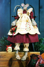 Collectible Cloth Doll - Christmas Mouse