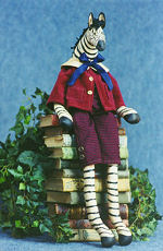 Collectible Cloth Doll - Zachary - Zebra