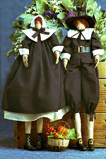 Collectible Cloth Doll - Give Thanks Pilgrims