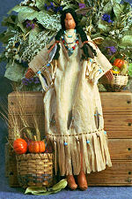 Collectible Cloth Doll - Indian Maiden